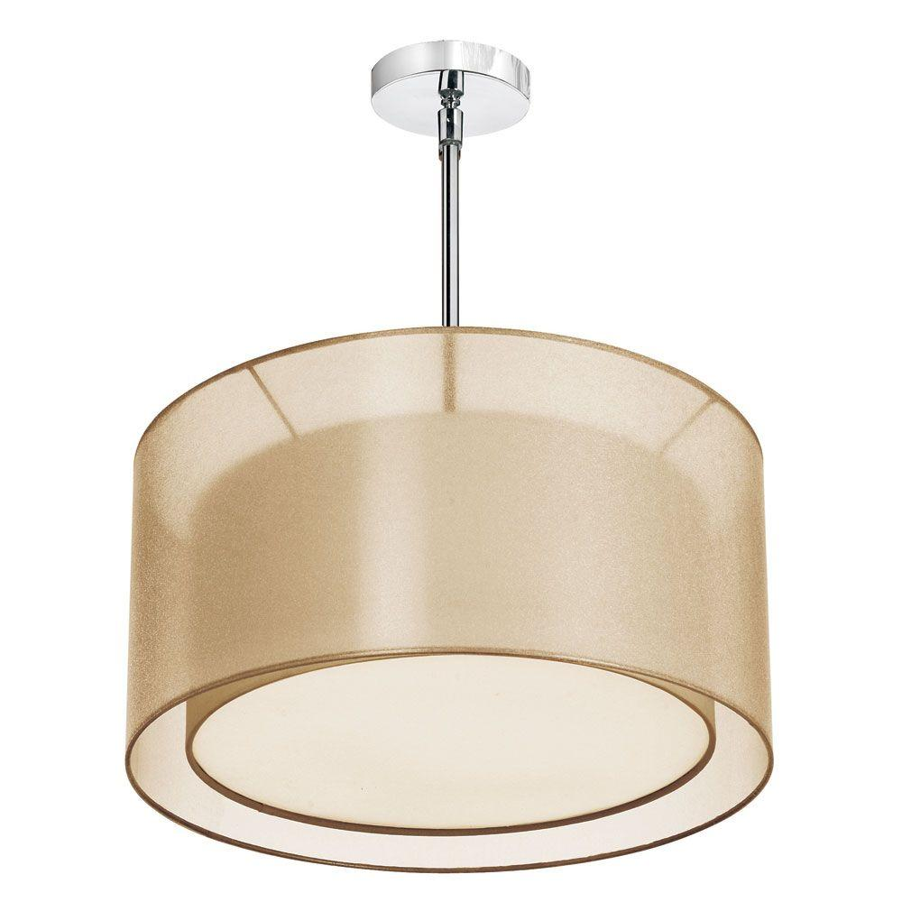 Catherine 3-Light Ceiling Polished Chrome Incandescent Chandelier