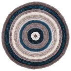 Drey Ombre Shag Blue Multi 8 ft. Round Rug