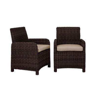Northshore Patio Dining Chair with Sparrow Cushions (2-Pack) -- CUSTOM