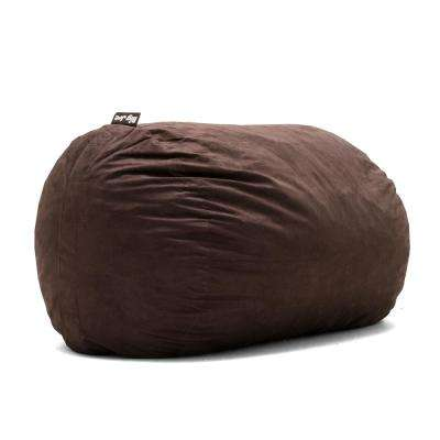 XL FUF Shredded Ahhsome Foam Cocoa Lexon Bean Bag