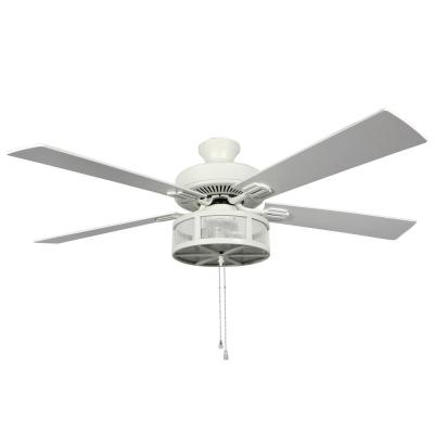 Paige 52 in. LED Indoor White Ceiling Fan with Light