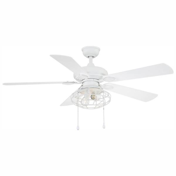Home Decorators Collection Ellard 52 In Led Matte White Ceiling Fan With Light Kit Yg629a Mwh Misc Depot