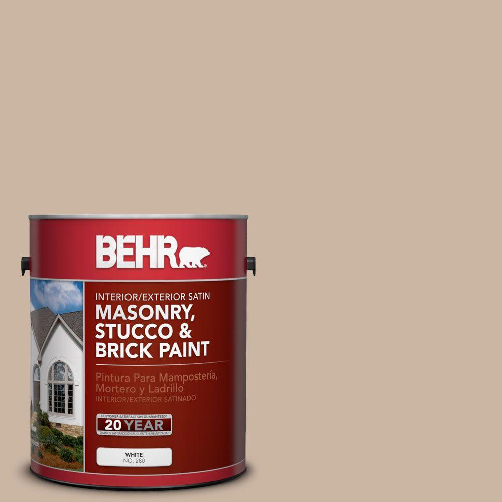 1 gal. #MS-09 Adobe Satin Interior/Exterior Masonry, Stucco and Brick Paint