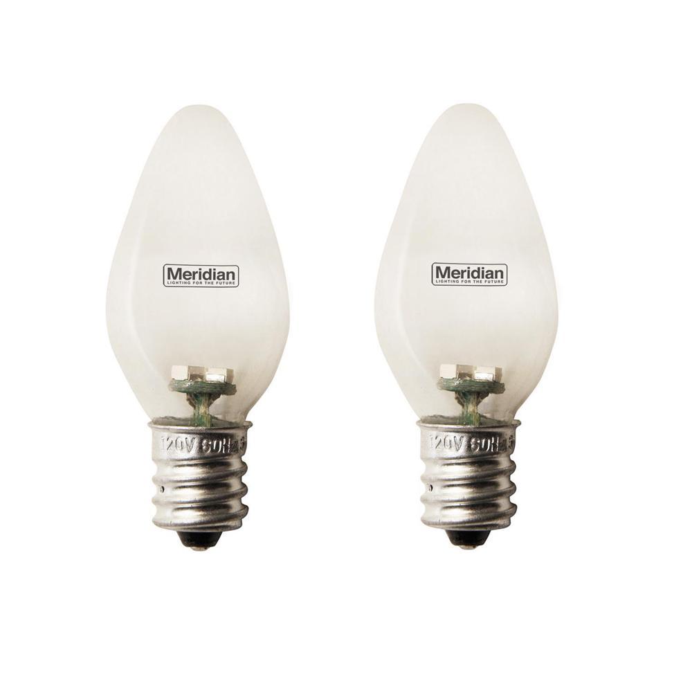 4-Watt Equivalent Blue C7 LED Light Bulb (2-Pack)