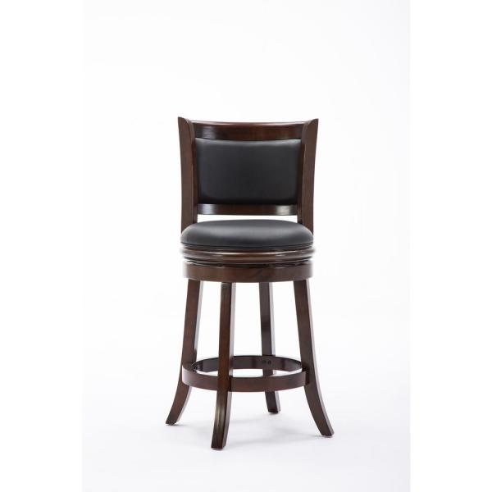 1//2//3 Bar Stool Swivel Metal Wood Seat Top Height Adjustable Barstool W