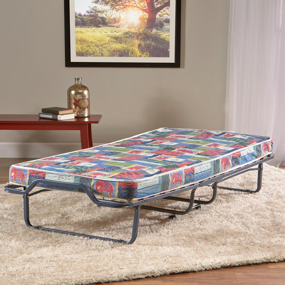 Innerspace Firenze Roll-Away Folding Guest Bed with Metal...