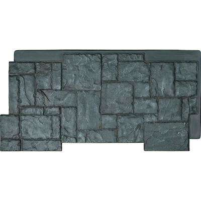 48 in. x 24 in. Castle Rock Stacked Stone, StoneWall Faux Stone Siding Panel