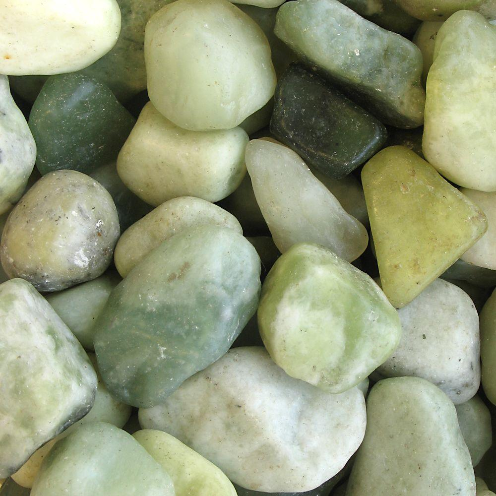 20 lb. Jade Natural River Rocks