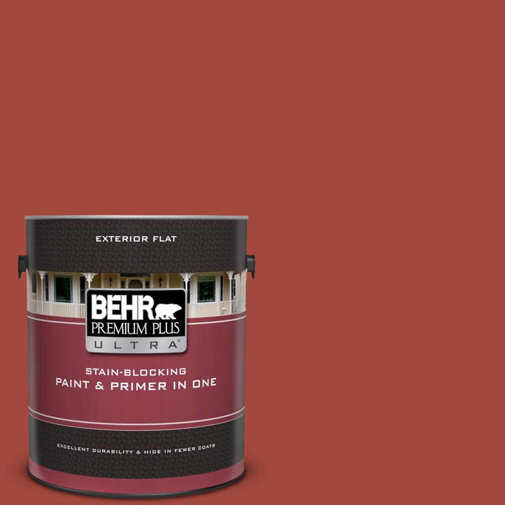 170d 7 Farmhouse Red Flat Exterior Paint