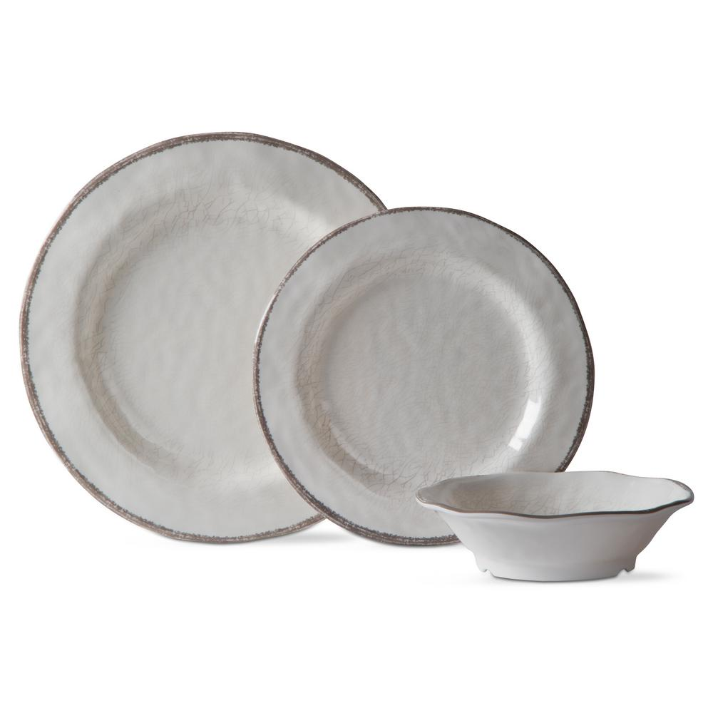 Tag Lanai Melamine White Dinnerware Set (12-Pack) was $59.99 now $18.0 (70.0% off)