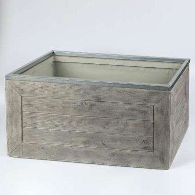 30 in.W Rectangular MgO Fiberclay Crate Style Planter