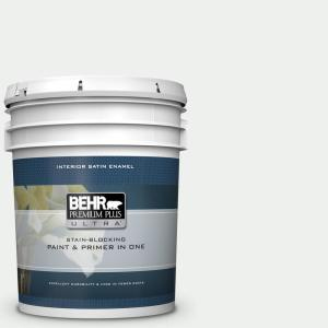 5 gal. #57 Frost Satin Enamel Interior Paint and Primer in One