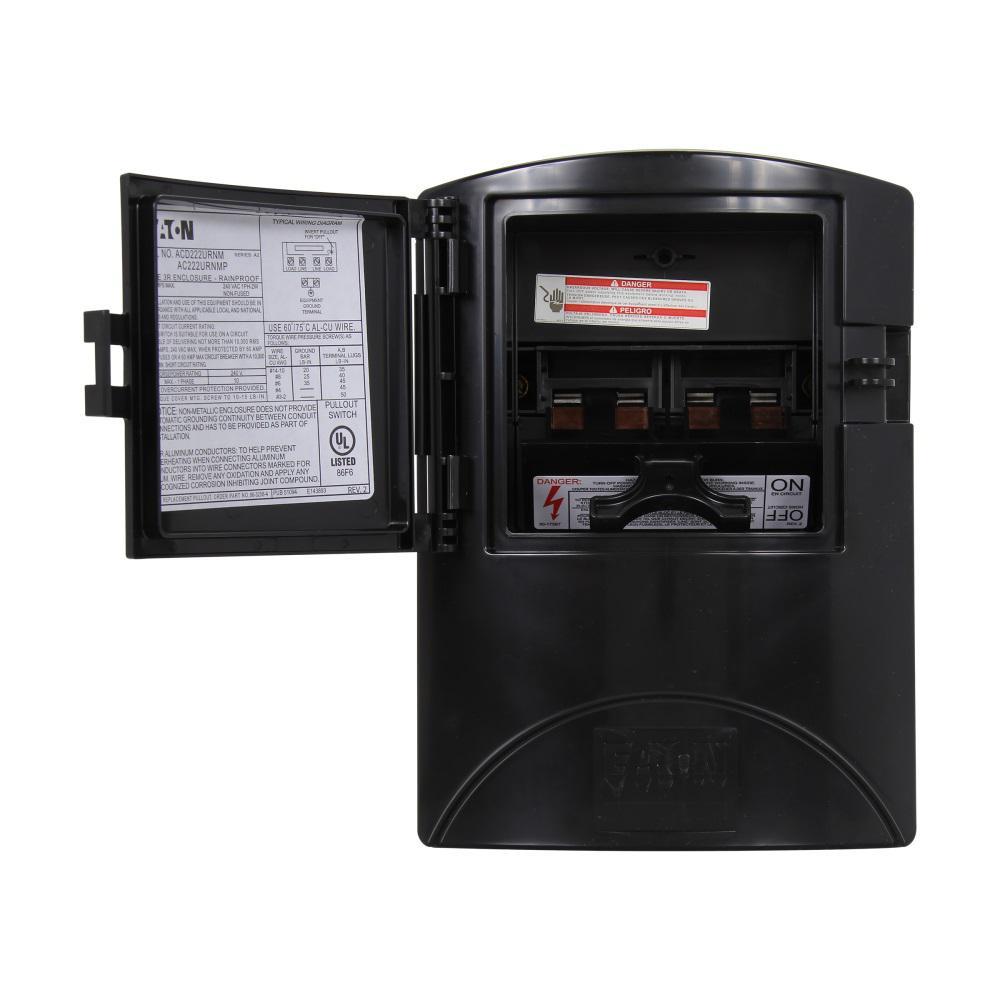 60 Amp 2-Pole NEMA 3R AC Disconnect