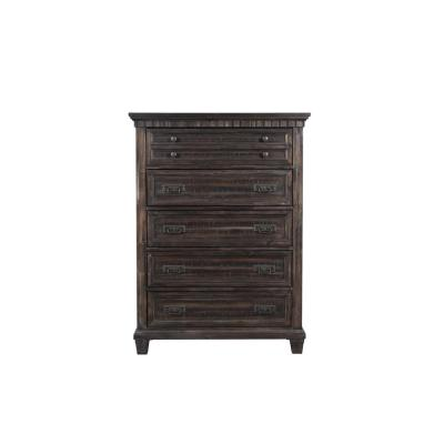 Steele Smokey Gray Oak 5-Drawer Chest