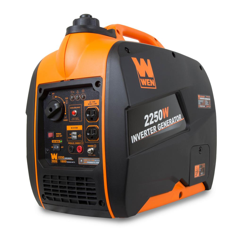 WEN Super Quiet 2250-Watt Gas-Powered Portable Inverter Generator with Fuel Shut-Off