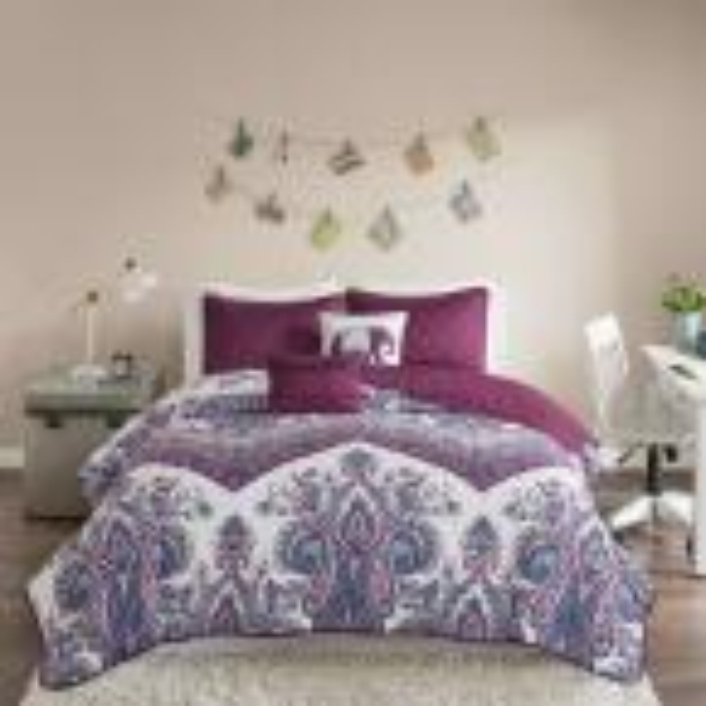Intelligent Design Layne 4-Piece Purple Twin Coverlet Set