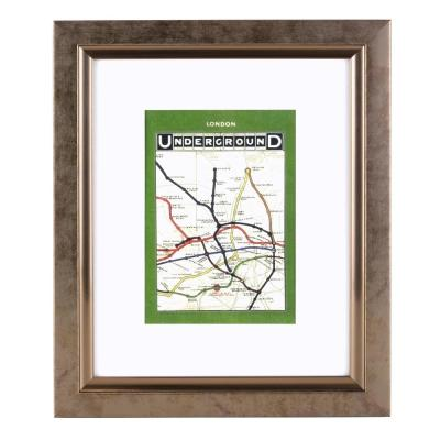 Bristol Lewis 8 in. x 10 in. Matted for 5 in. x 7 in. Antique Bronze Photo Frame