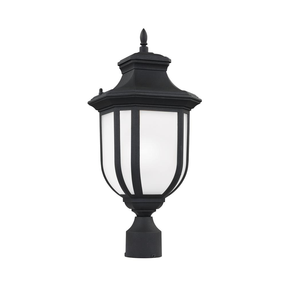 Childress 1-Light Outdoor Black Post Light