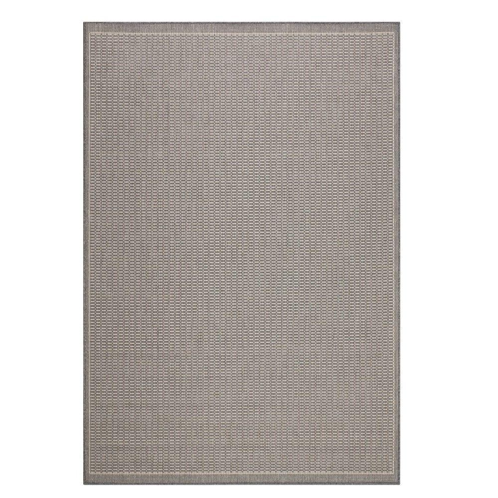 Home Decorators Collection Saddlestitch Grey/Champagne 6 ft. x 9 ft. Area Rug