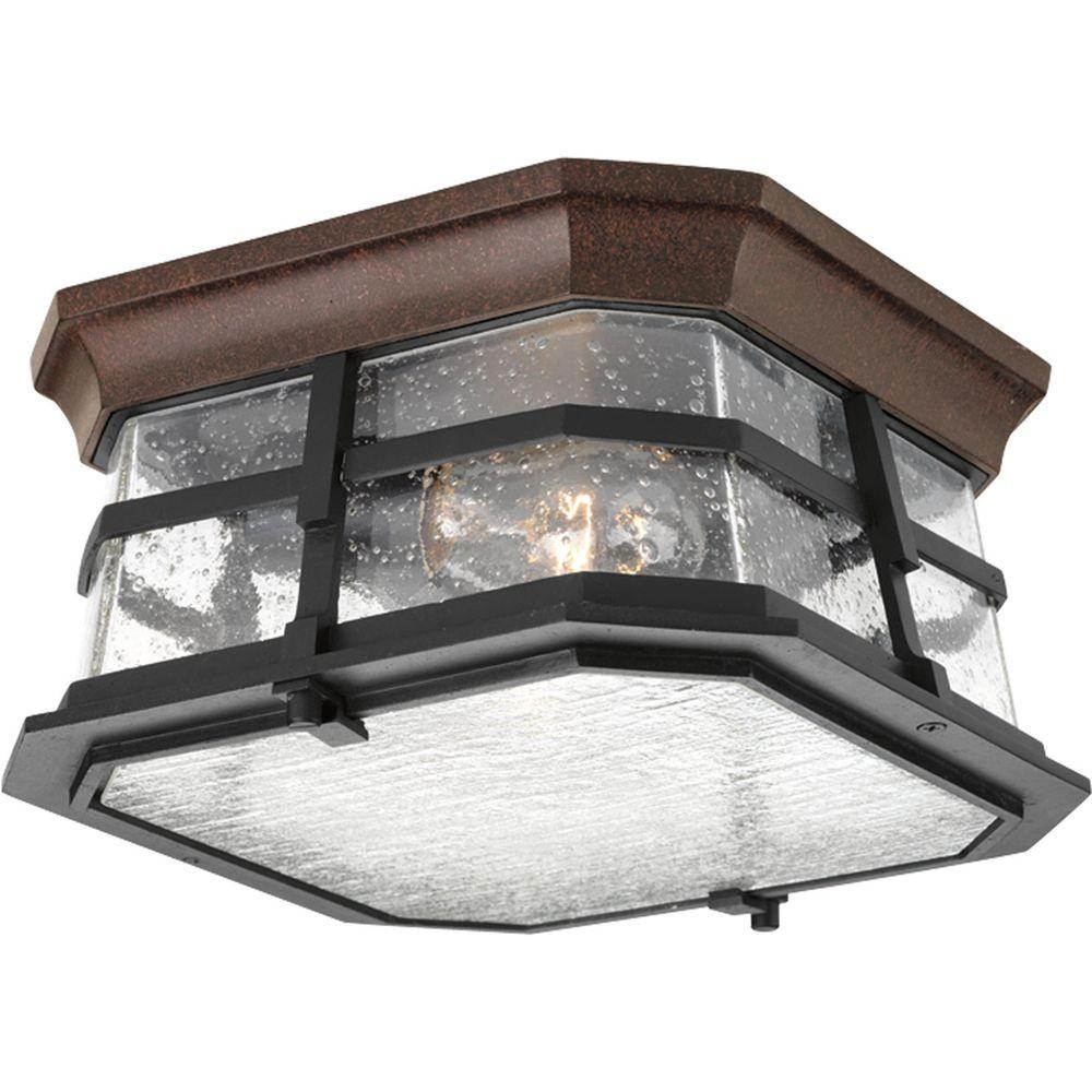 White outdoor ceiling lighting outdoor lighting the home depot derby collection 2 light espresso outdoor flushmount aloadofball Gallery