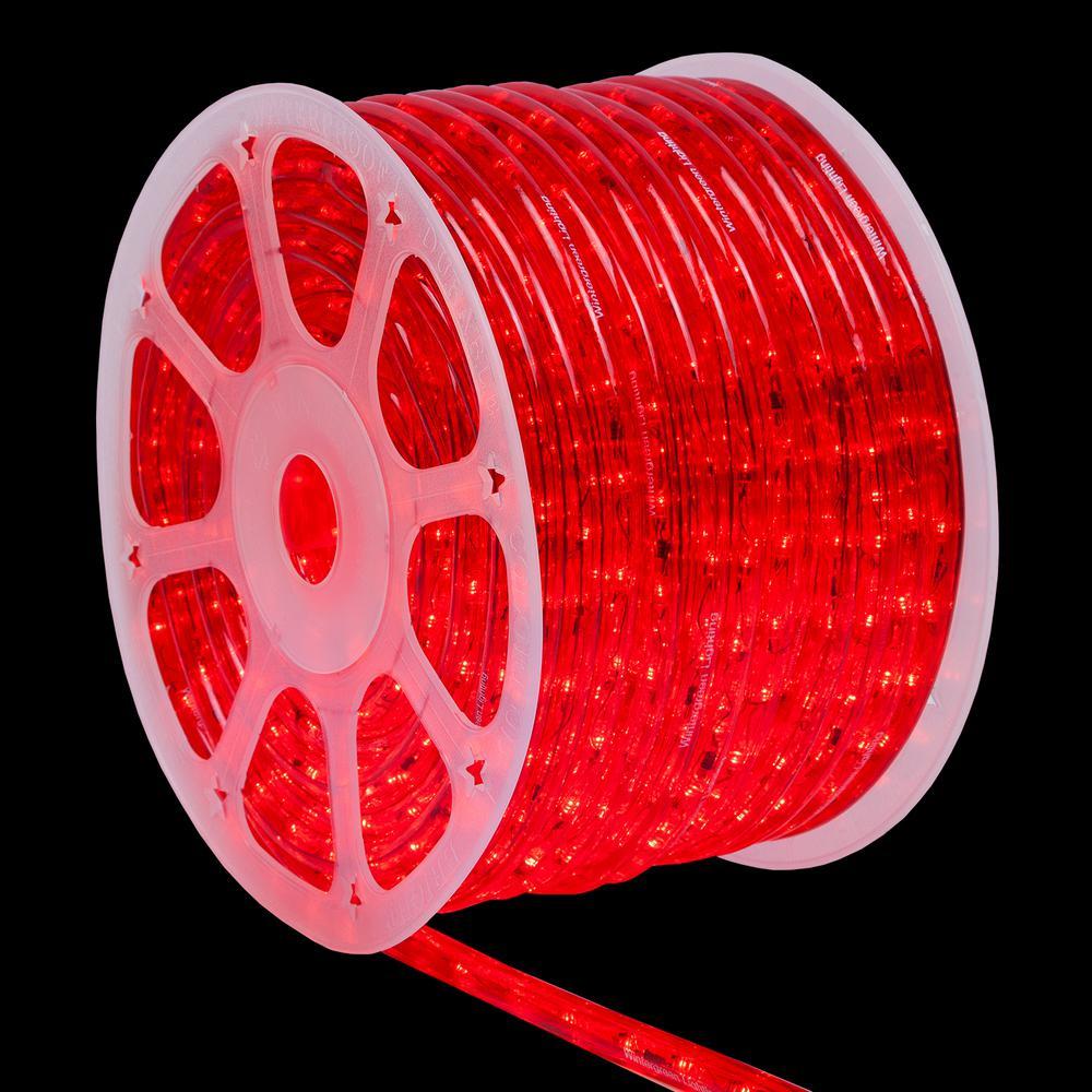 150 ft. LED Red Rope Light Kit