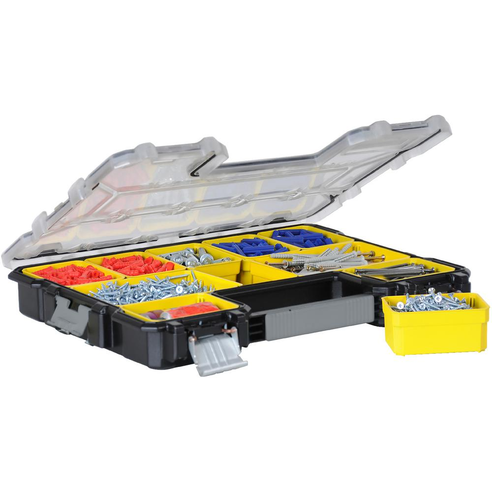 Stanley FATMAX 10-Compartment Shallow Pro Small Parts Organizer