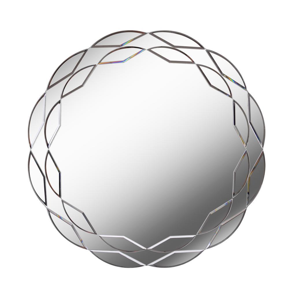 Turk Round Glass Wall Mirror