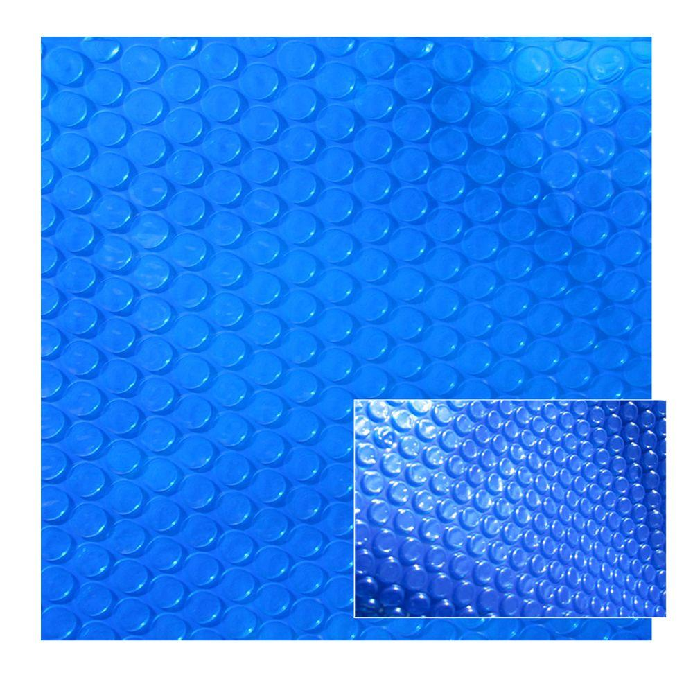 Swim Time 18 ft. x 44 ft. Oval 8-mil Solar Blanket for Blue Above Ground Pool-DISCONTINUED