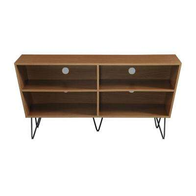 52 in. Pecan Crosby Angled Side TV Console