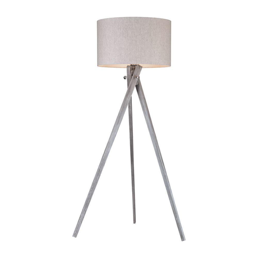 Whistler 62 in. Black Ash Floor Lamp