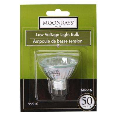 50-Watt Clear Glass MR-16 Halogen Replacement Light Bulb