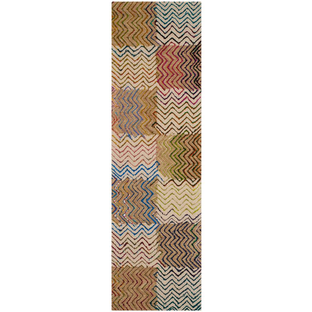 Safavieh Nantucket Beige/Brown 2 ft. x 6 ft. Runner Rug