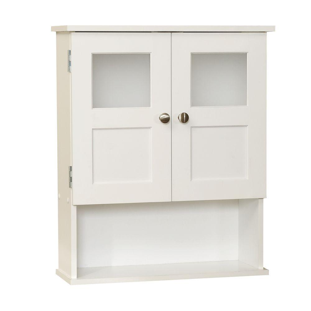 Zenna Home 20-1/4 in. W x 24 in. H x 7 in. D Bathroom Storage Wall ...