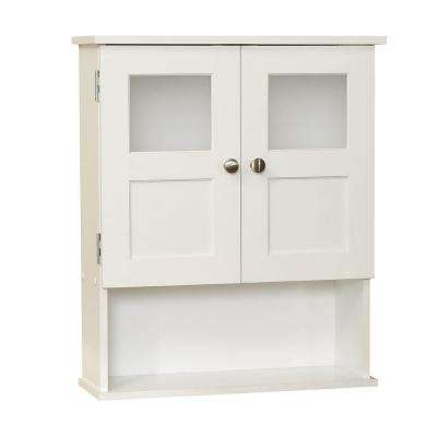 20-1/4 in. W x 24 in. H x 7 in. D Bathroom Storage Wall Cabinet in White