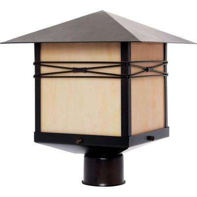 Taliesin 1-Light Burnished Outdoor Pole/Post Mount