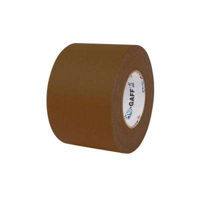 4 in. x 55 yds. Brown Gaffer Industrial Vinyl Cloth Tape (3-Pack)