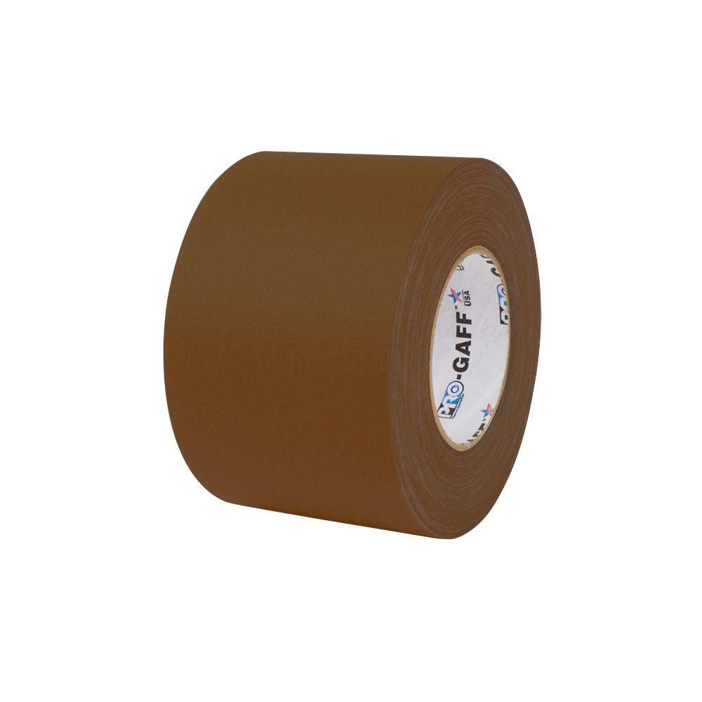 4 in. x 55 yds. Brown Gaffer Industrial Vinyl Cloth Tape (3-Pack)