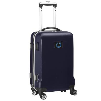 Denco NFL Indianapolis Colts 21 in. Navy Carry-On Hardcase Spinner Suitcase, Blue