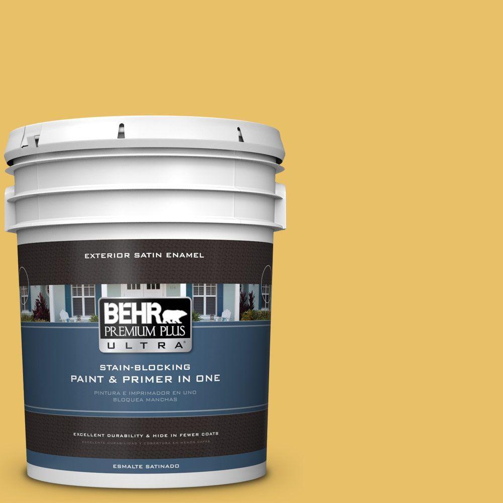 BEHR Premium Plus Ultra 5-gal. #360D-5 Golden Chalice Satin Enamel Exterior Paint