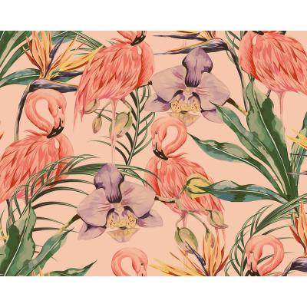 Paradise Flamigo Flowers Wall Mural