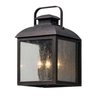Chamberlain 4-Light Vintage Bronze Outdoor Wall Lantern Sconce