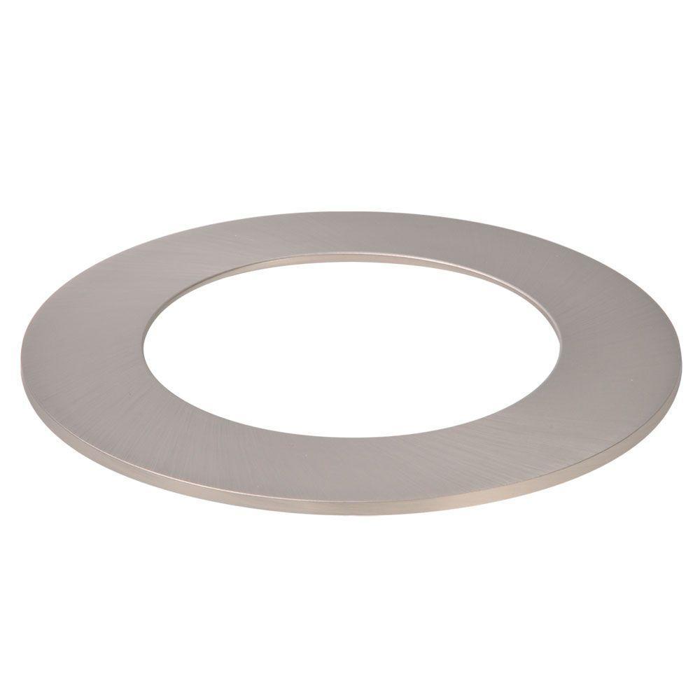 4 in. Satin Nickel Recessed Ceiling Light LED Designer Trim Ring