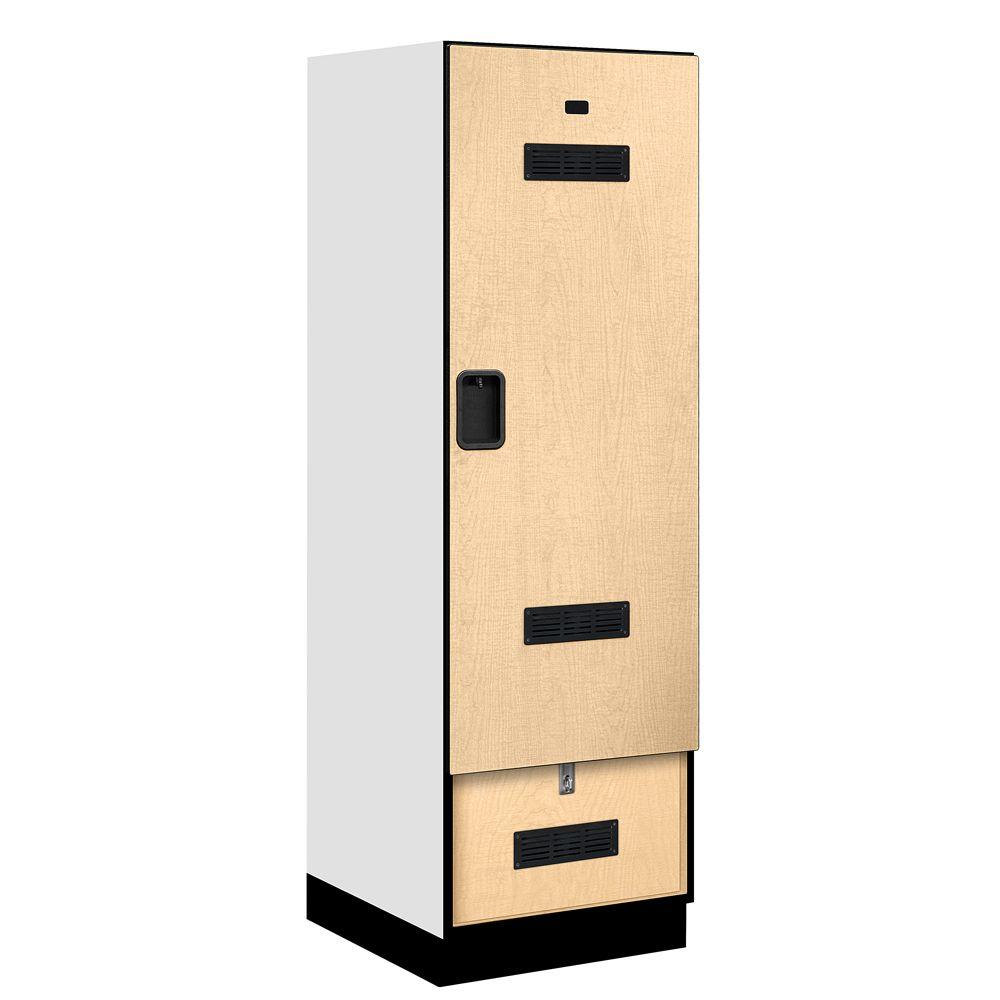 Salsbury Industries 30000 Series 24 in. W x 76 in. H x 24.75 in. D Designer Gear Locker in Maple