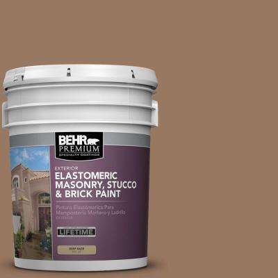 5 gal. #MS-18 Clay Brown Elastomeric Masonry, Stucco and Brick Paint