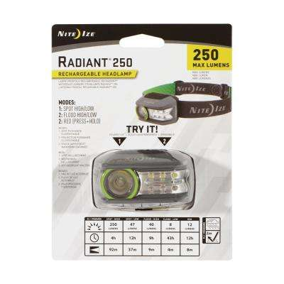 Radiant 250 Rechargeable Headlamp