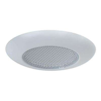 4 in. Matte White Recessed Integrated LED Lensed Trim