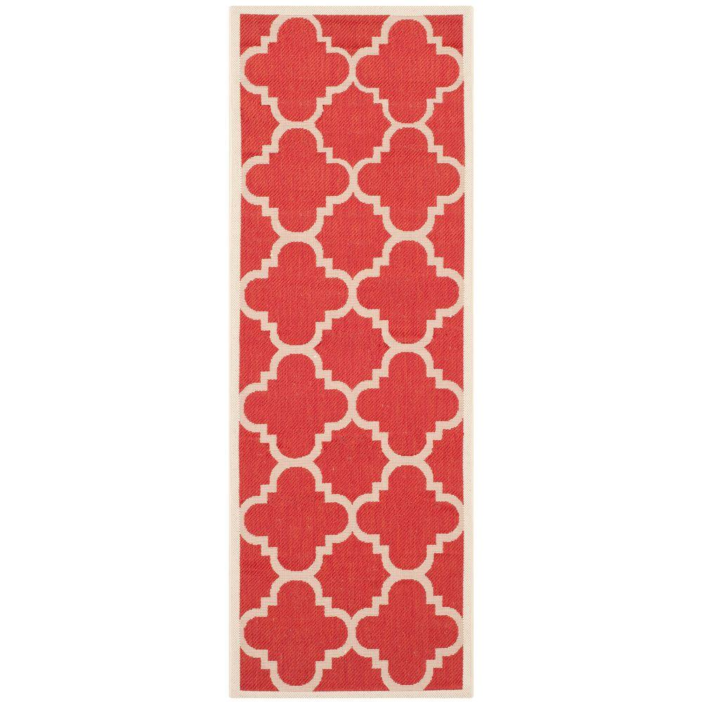 Courtyard Red 2 ft. 3 in. x 6 ft. 7 in.