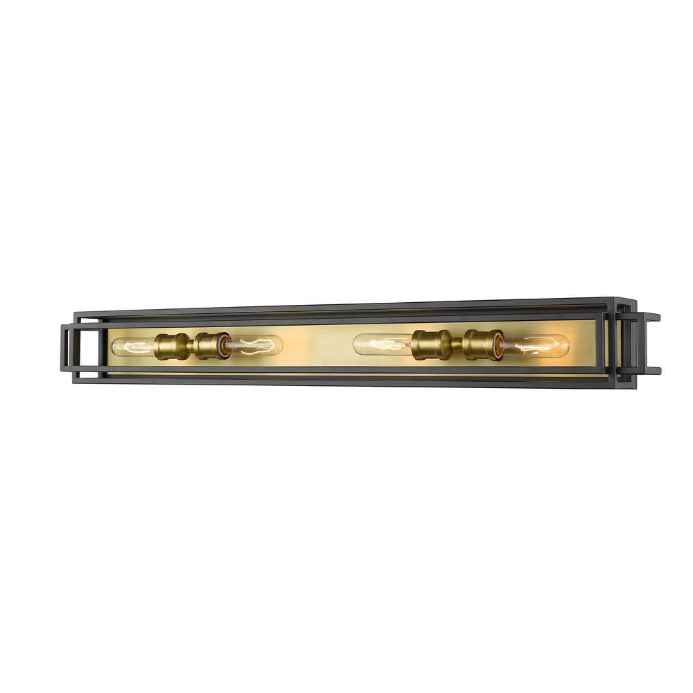 40 in. 4-Light Bronze and Olde Brass Vanity Light