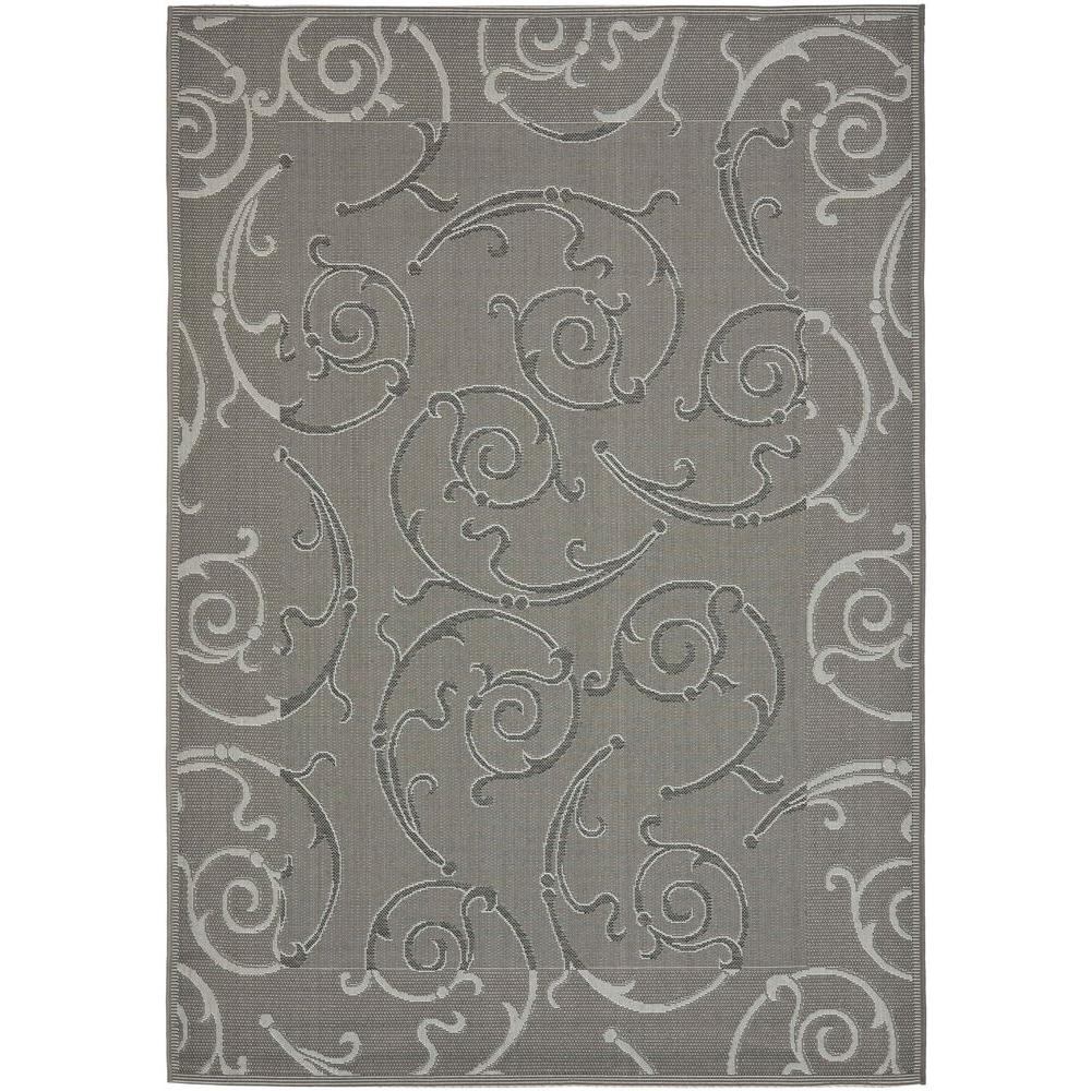 Courtyard Anthracite/Light Gray 5 ft. 3 in. x 7 ft. 7