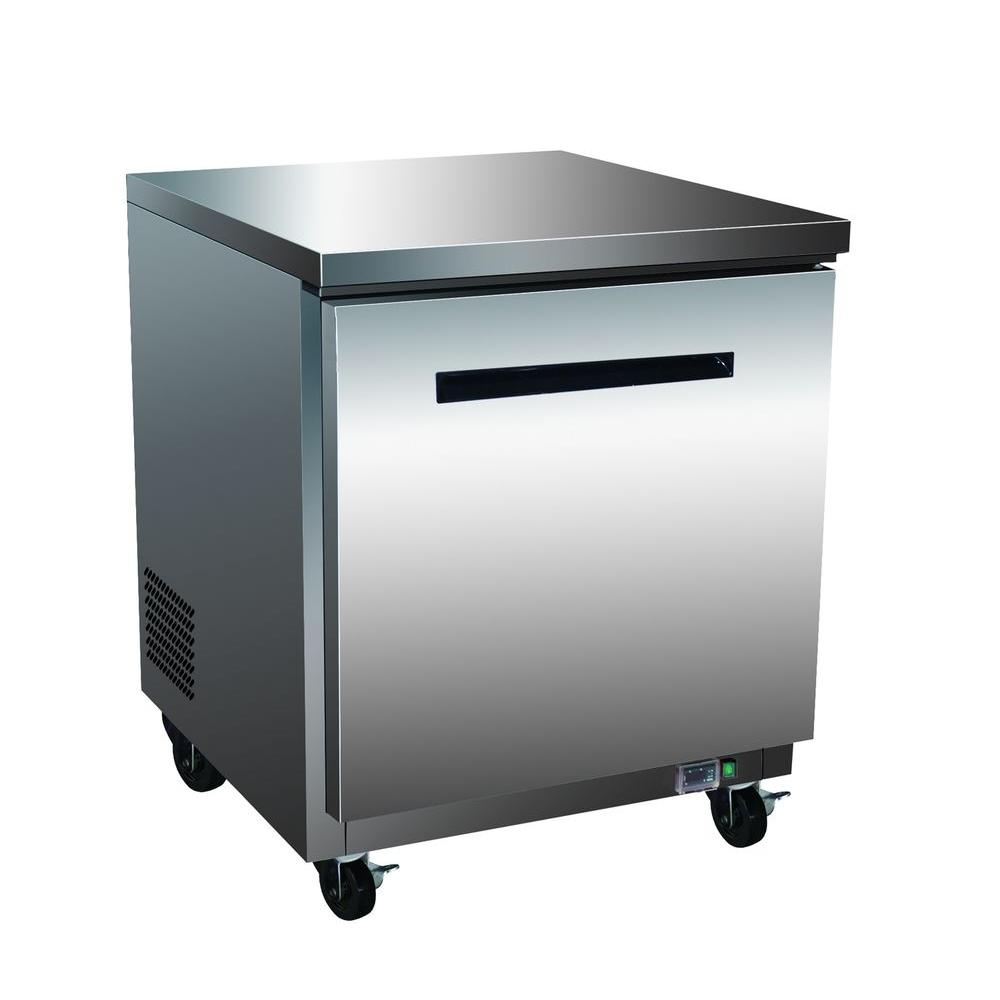 Maxx Cold X-Series 6.5 cu. ft. Single Door Undercounter Commercial Freezer in Stainless Steel